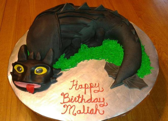 Photo gallery birthday cakes may 30 2014 toothless the dragon from how to train your dragon birthday cake ccuart Choice Image
