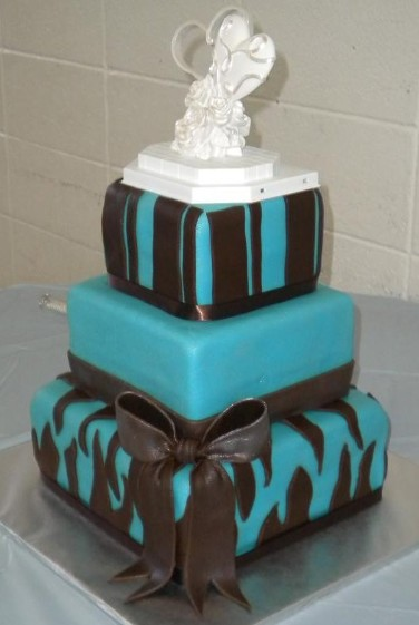teal blue and brown wedding cakes photo gallery wedding cakes 20775
